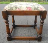 Oak Framed Upholstered Stool